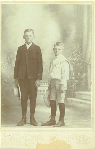 James and Claude as boys